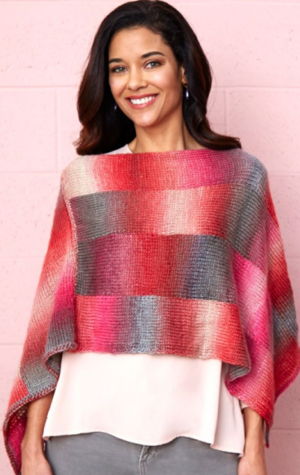 Bargello Easy Poncho Pattern