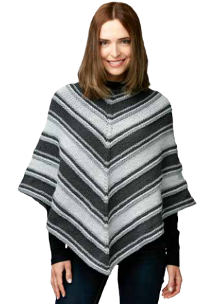 Fade to Grey Easy Poncho Pattern
