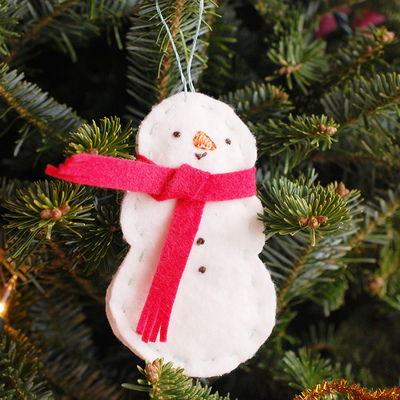 30 Minute Simple Snowman Ornament