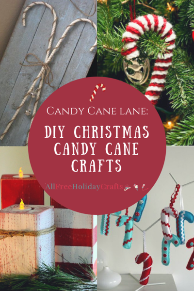 Candy Cane Lane 40 DIY Christmas Candy Cane Crafts Fascinating Making Large Candy Cane Decorations