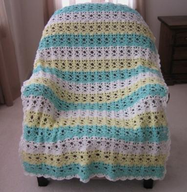 Springtime Lace Easy Crochet Blanket Allfreecrochetafghanpatterns