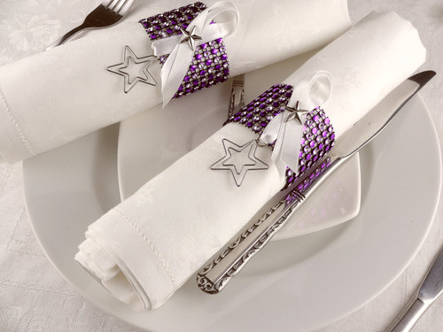 Napkin Rings with Rhinestone Mesh