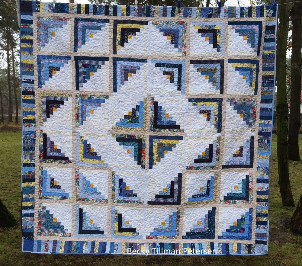 Cabin Fever Blues Quilt Pattern | FaveQuilts.com