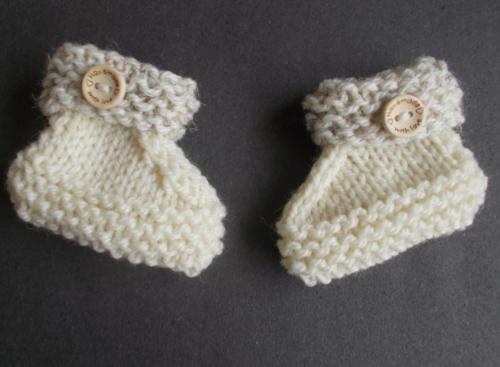 Simple Knit Baby Booties Pattern Allfreeknitting