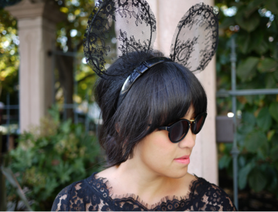 Black Lace DIY Mickey Mouse Ears