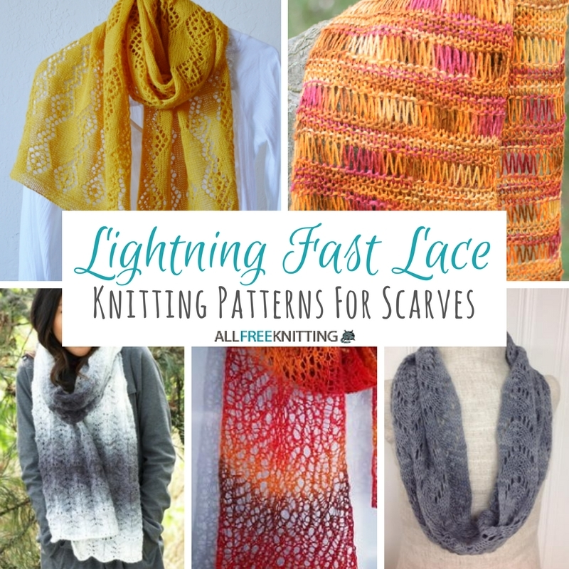 33+ Lace Knitting Patterns for Scarves | AllFreeKnitting.com