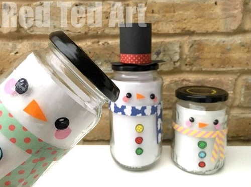 Snowman Mason Jar Christmas Craft
