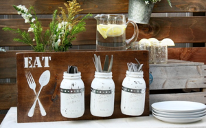 Rustic DIY Silverware Holder