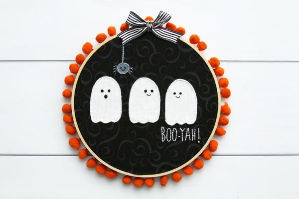 Ghosties DIY Embroidery Hoop Art