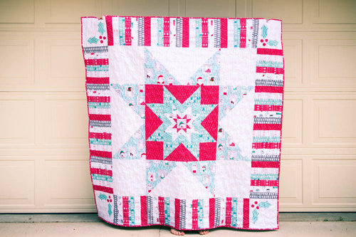 Merry Stars Christmas Quilt Pattern