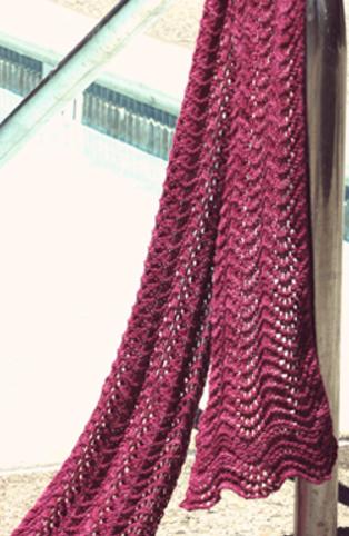 Feather Fan Lace Knit Scarf Allfreeknitting