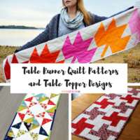 30+ Free Table Runner Quilt Patterns and Table Topper Designs