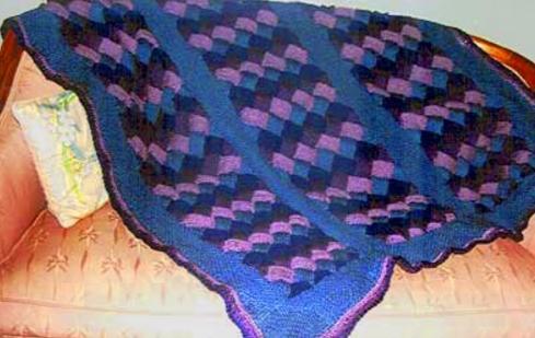 Entrelac Afghan Knitting Pattern Allfreeknitting