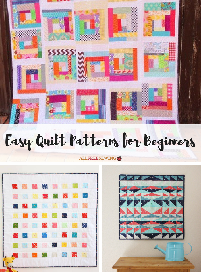 45+ Easy Quilt Patterns for Beginners | AllFreeSewing.com : easy quilt pattern - Adamdwight.com