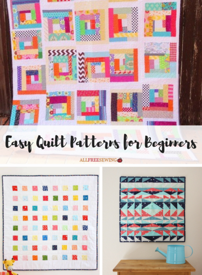 45+ Easy Quilt Patterns for Beginners | AllFreeSewing.com : quilt patterns beginners - Adamdwight.com