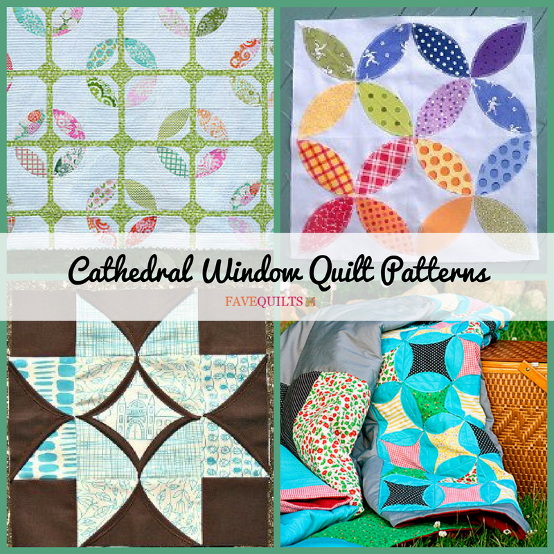 12 Cathedral Window Quilt Patterns Favequilts Com