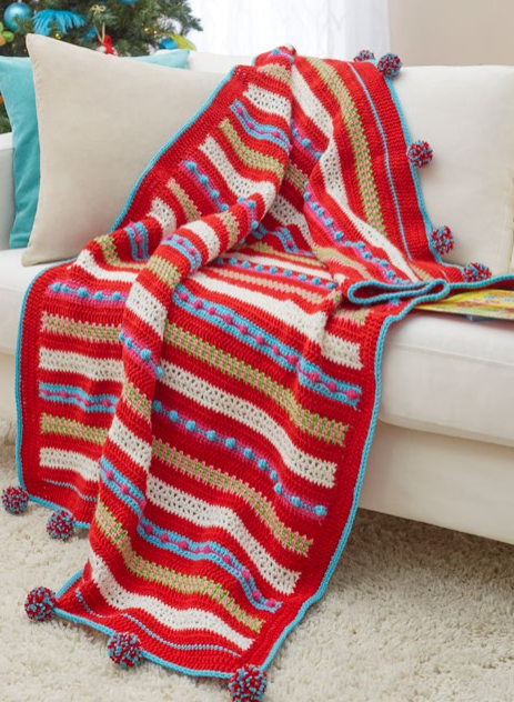 Christmas Morning Easy Crochet Blanket Extraordinary Christmas Fleece Throws Blankets