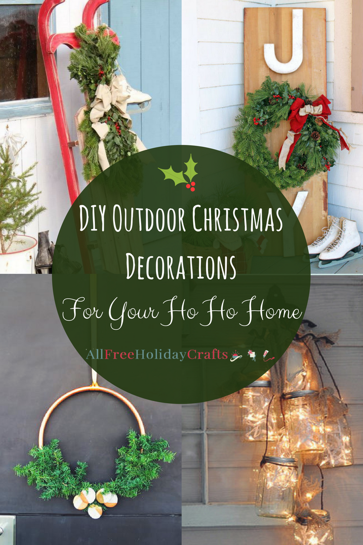 29 diy outdoor christmas decorations for your ho ho home allfreeholidaycraftscom - Extra Large Outdoor Christmas Decorations