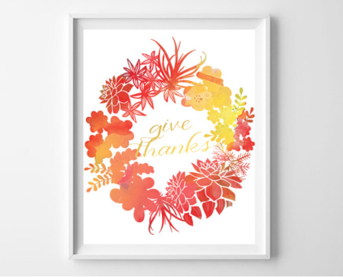 Printable DIY Thanksgiving Wreath Decor