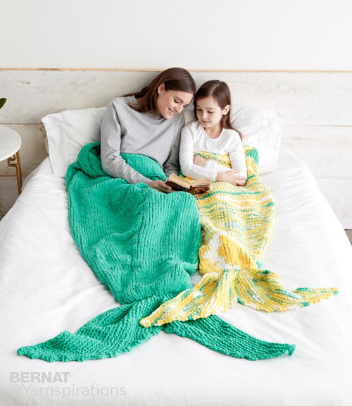 Mermaid Blanket Pattern Allfreeknitting