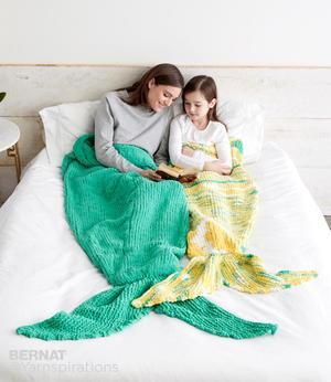 Mermaid Knitted Sack Blanket