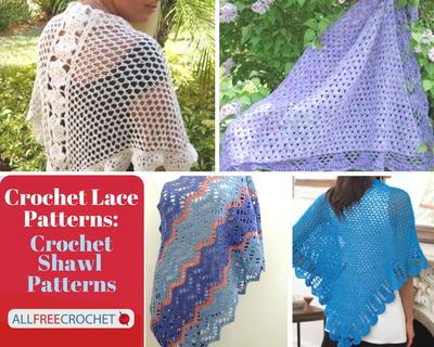 Crochet Shawl Patterndetailed Tutorialcrochet Shrug Pattern