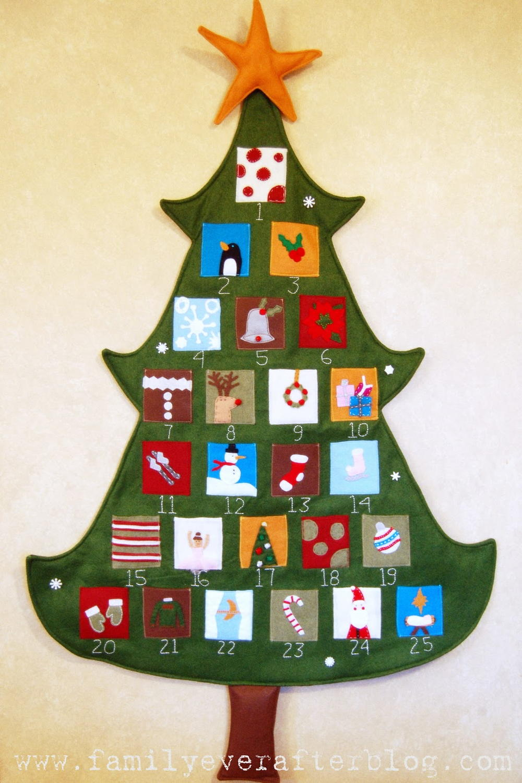 pottery barn inspired christmas tree advent calendar allfreesewingcom - Pottery Barn Christmas Trees