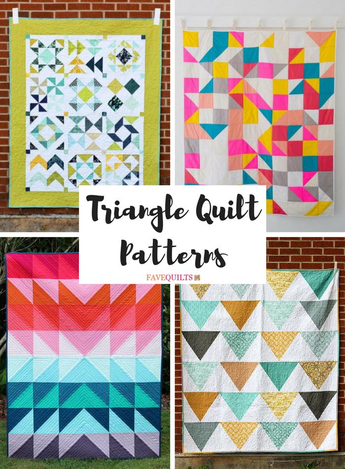 Terrific Triangle Quilt Tutorials 40 Triangle Quilt