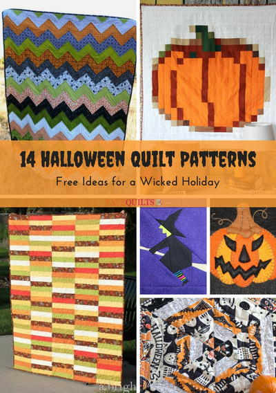 14 Halloween Quilt Patterns for a Wicked Holiday | FaveQuilts.com : halloween quilt blocks - Adamdwight.com