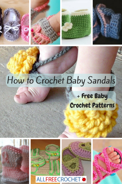 How to Crochet Baby Sandals + 24 Free Baby Crochet Patterns ...