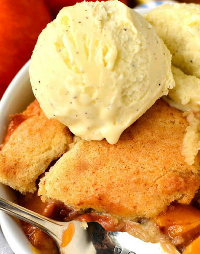 Sugar Cookie Peach Cobbler for Two