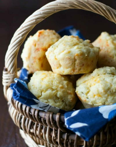 Light and Fluffy Gluten Free Cheddar Herb Muffins