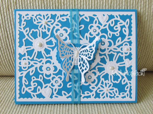 Blue Butterfly Envelope Book