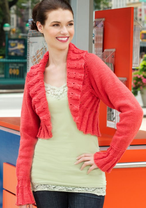 Ruffled Edges Shrug Pattern