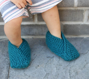 Zooming Toddler Easy Knit Slipper Pattern