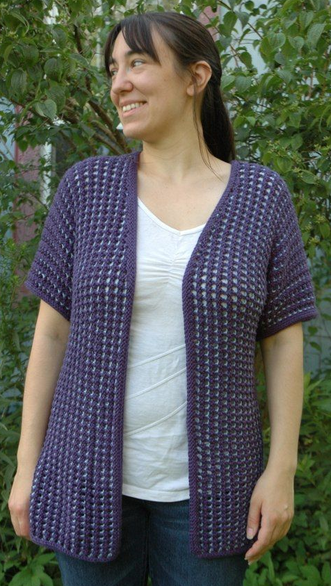 Simple Summer Cardigan Sweater Pattern Allfreeknitting