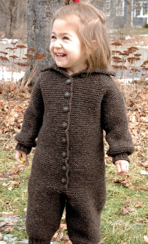 Blizzard Proof Knit Baby Romper Pattern