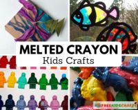 31 Melted Crayon Kids Craft Ideas