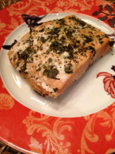 Slow Cooker Salmon with Cilantro and Lime