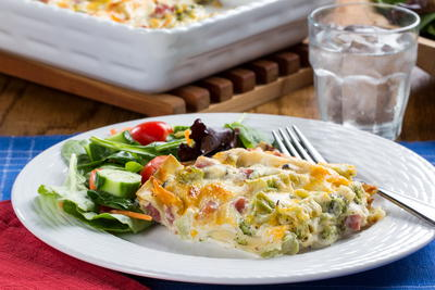 Ham and Cheese Lasagna