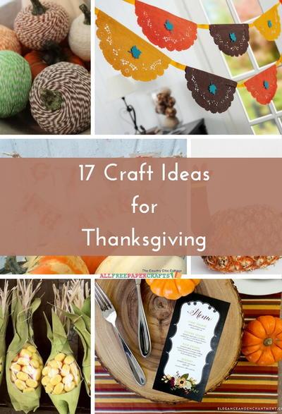 Allfreepapercrafts Com: 17 Craft Ideas For Thanksgiving