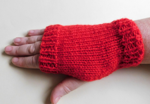 Super Easy Knit Fingerless Gloves Allfreeknitting