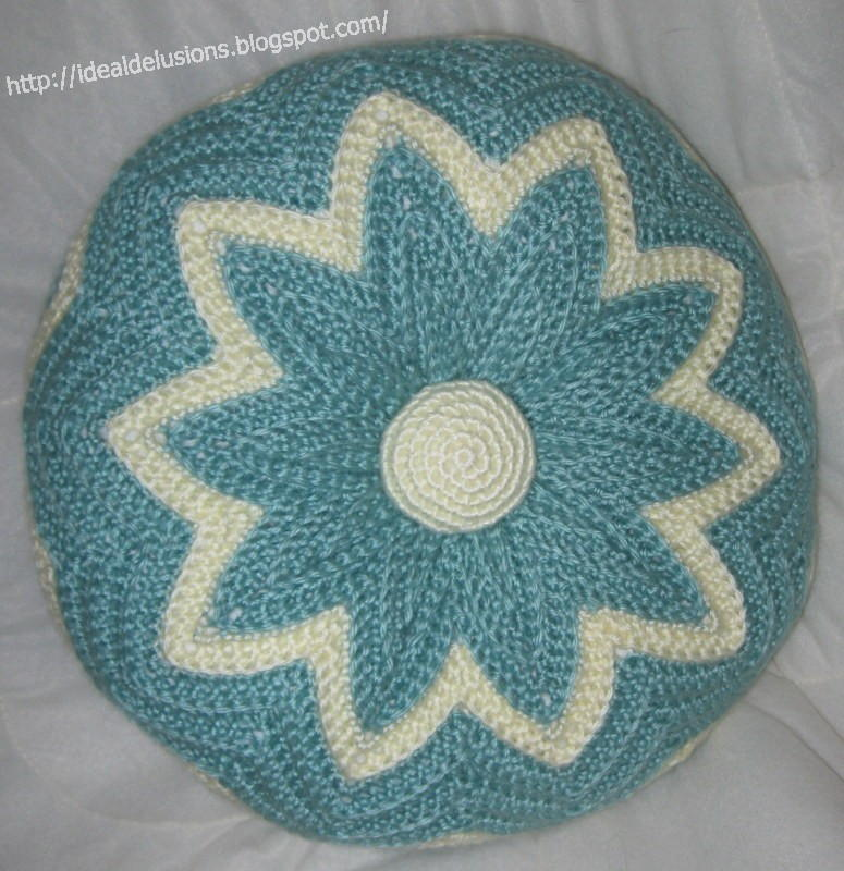 Retro Round Ripple Pillow Allfreecrochet