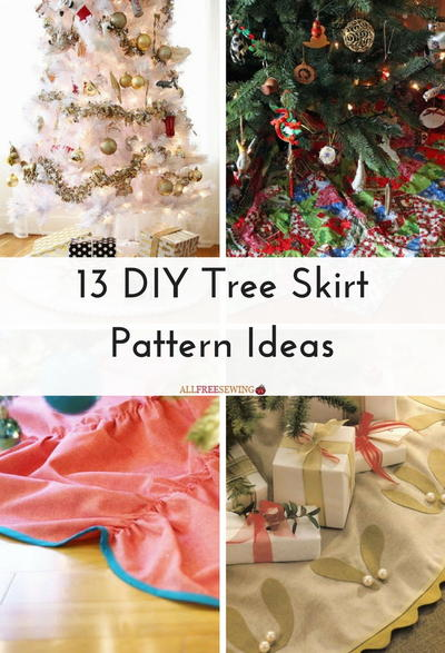 13 DIY Tree Skirt Pattern Ideas | AllFreeSewing.com