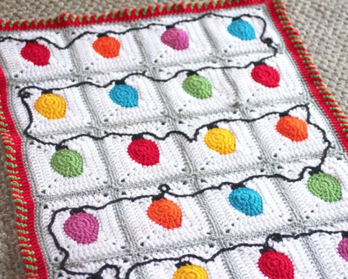 Crochet Christmas Lights Afghan Pattern