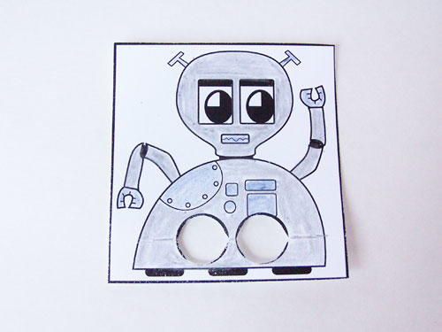 Robo Puppet Printable Paper Craft
