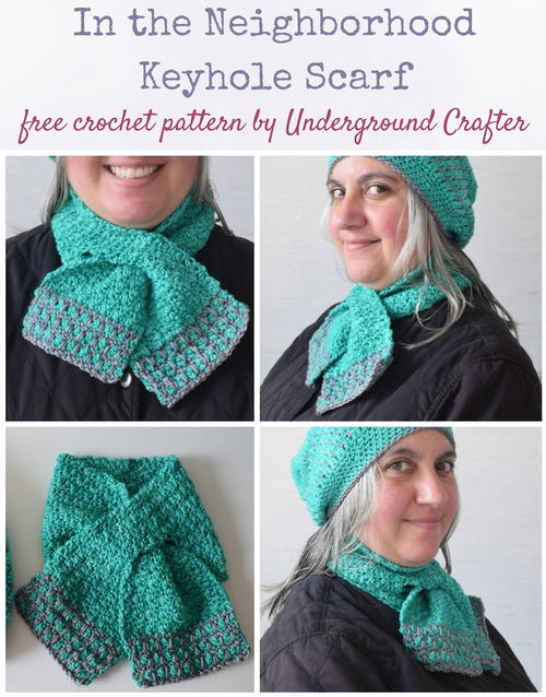 In The Neighborhood Keyhole Scarf Allfreecrochet