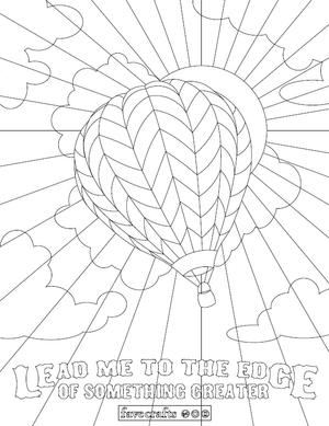 Whimsical Hot Air Balloon Coloring Page Favecrafts Com