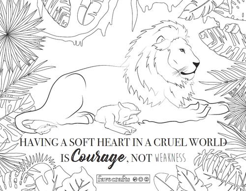 Lamb And Lion Coloring Page