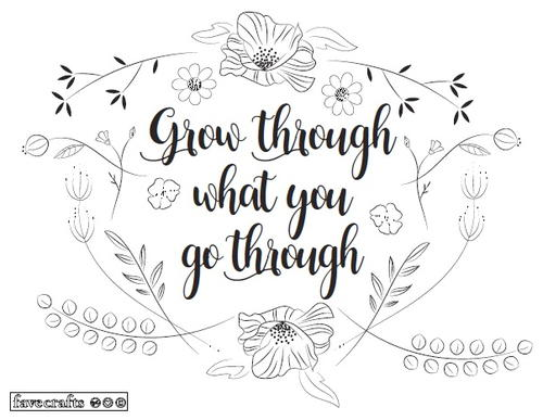 Grow Like Flowers Adult Coloring Page